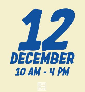 Make It Blue market 12 december 2020